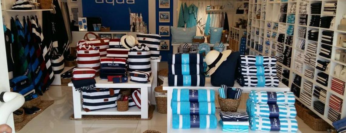 Aqua, магазин одежды, аксессуаров и подарков в туристической зоне Лимассола