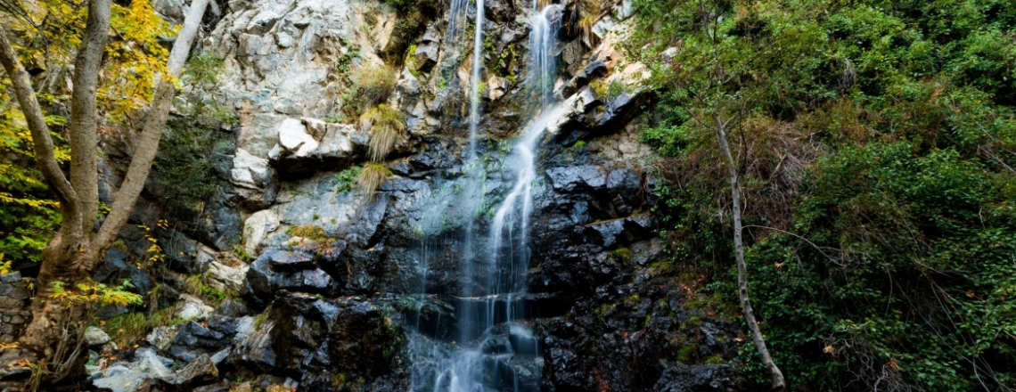 Caledonia Falls, nature park, hiking tours in the mountains, Limassol