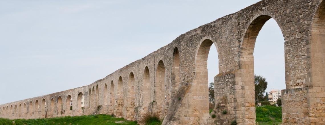 The Kamares Aqueduct in Larnaca