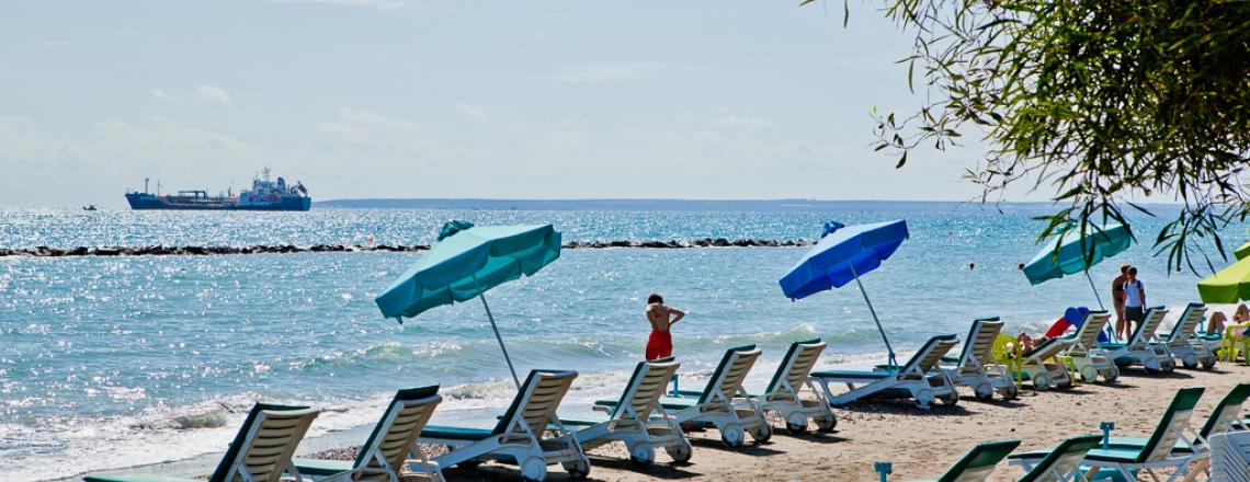 Dasoudi Beach in the center of Limassol