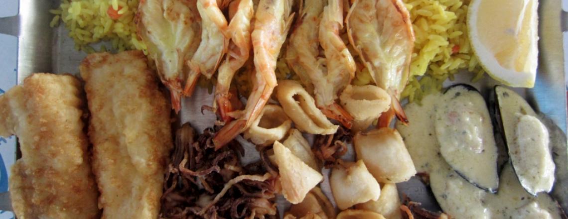 La Mer, ресторан «Ля Мер», блюда из свежей рыбы в Лимассоле