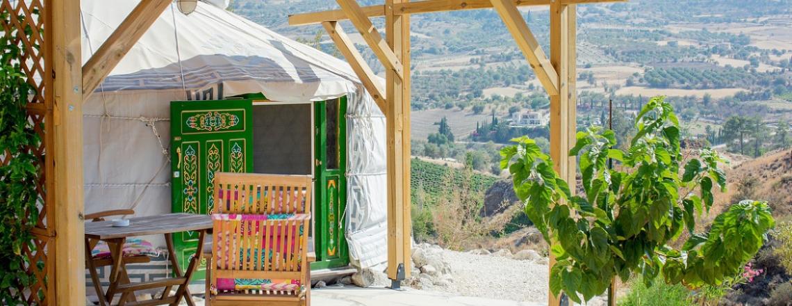 Yurts in Cyprus, юрты на Кипре