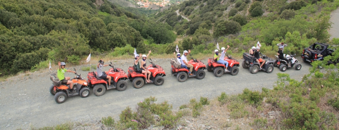 Сафари-прогулки на квадроциклах в «Агрос Квад», Agros Quad safari, Троодос, Лимассол