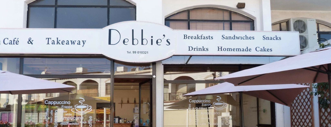 Британское кафе и кофешоп Debbie's of Latchi в Лачи