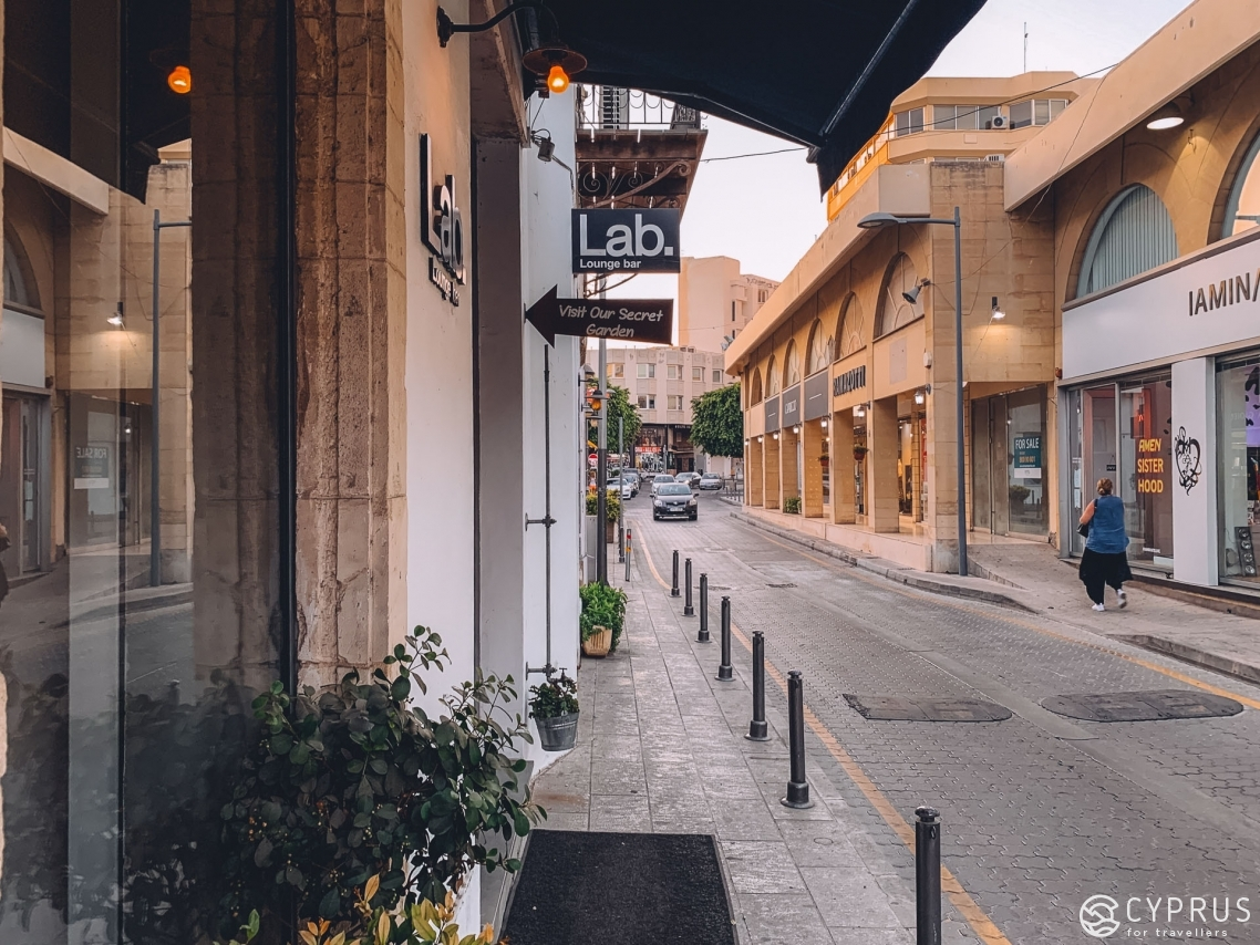 Anexartisias — the main street of Limassol, Cyprus