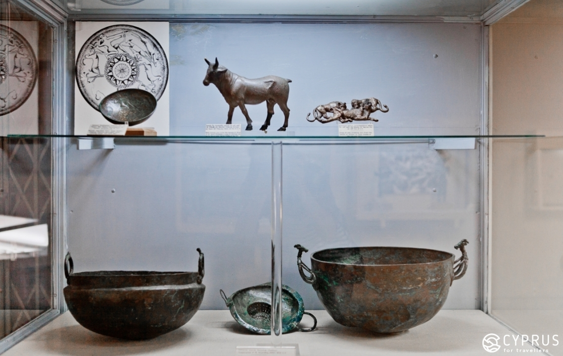 Exhibits of the Cyprus Archaeological Museum in Nicosia